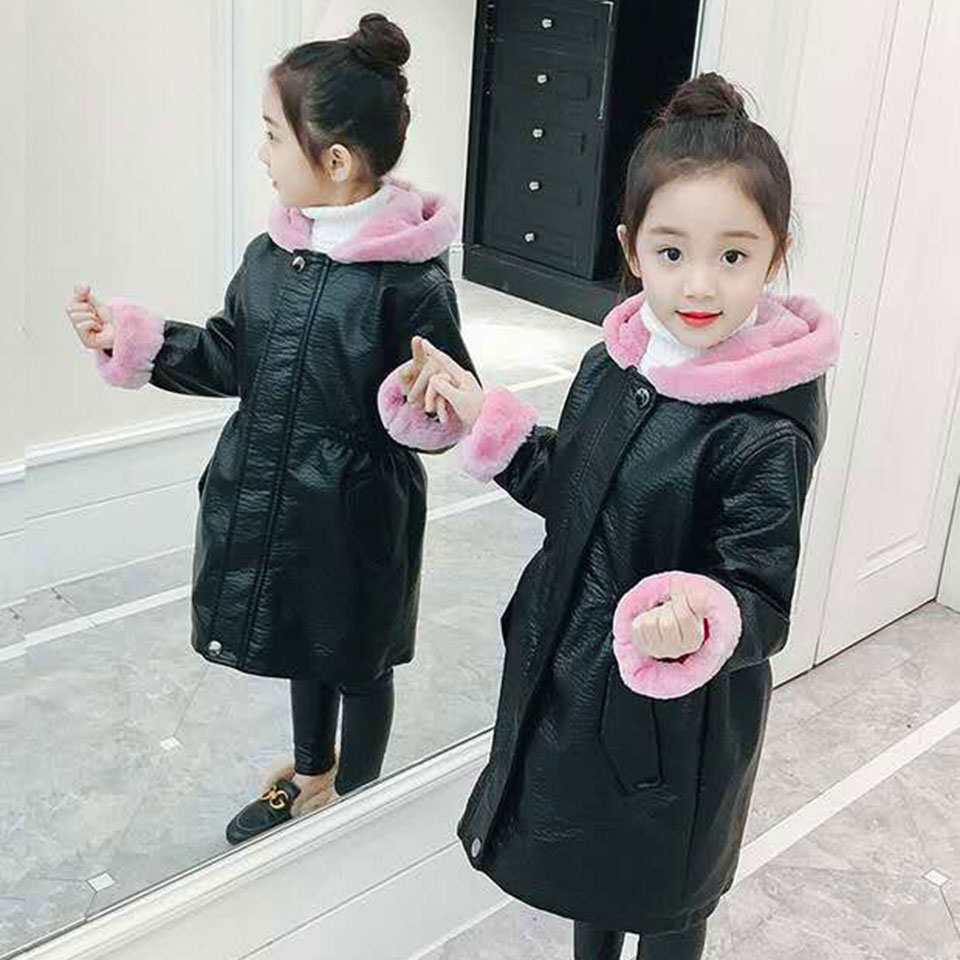 Long Style Children Girls Coats Hooded Fur Collar Thick Winter Kids Outerwear 3 Colors Soft Cute Snowsuit Baby Girls Clothes buenos ninos thick winter children jackets girls boys coats hooded raccoon fur collar kids outerwear duck down padded snowsuit