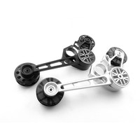 Folding bicycle chain tensioner for folding brompton bicycle guide wheel variable speed upgrade outer 3 4 5 speed inner 3 6speed