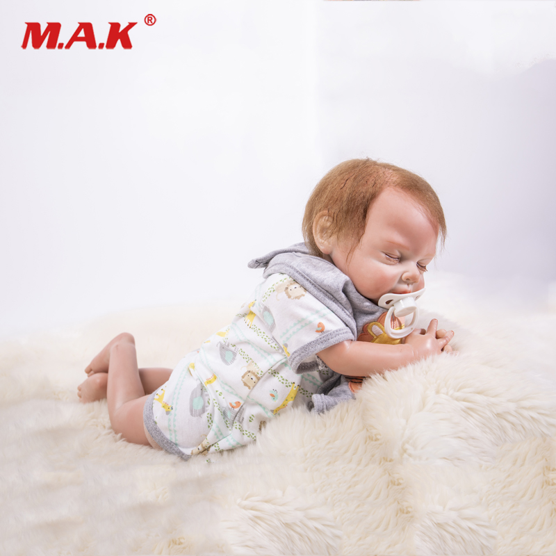 Real 18 Soft Silicone Bebes Reborn Realistic Llifelike Baby Doll Play House Newborn Sleeping Toddler Boneca Toy Birthday GiftReal 18 Soft Silicone Bebes Reborn Realistic Llifelike Baby Doll Play House Newborn Sleeping Toddler Boneca Toy Birthday Gift