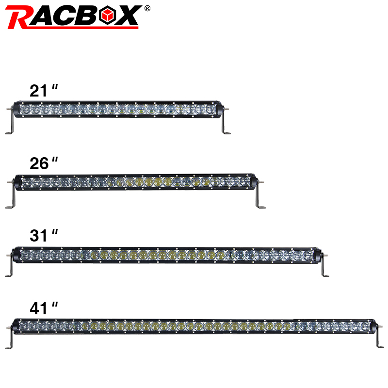 RACBOX 5D 21 22 26 31 41 LED Work Light Bar Single Row 5D Lens 100W 120W 150W 200W Spot  ...