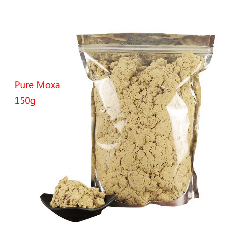 SHARE HO 40:1 Pure Moxa Artemisia Wormwood Burner Moxibustion Acupuncture Point Warm Heating Therapy Chinese Moxa Mugwort 150g