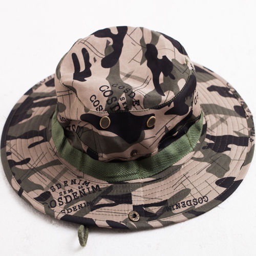 007ba6786c431 Men Women Bucket Hat Hunting Fishing Outdoor Wide Brim Military Unisex Sun Camo  Hat