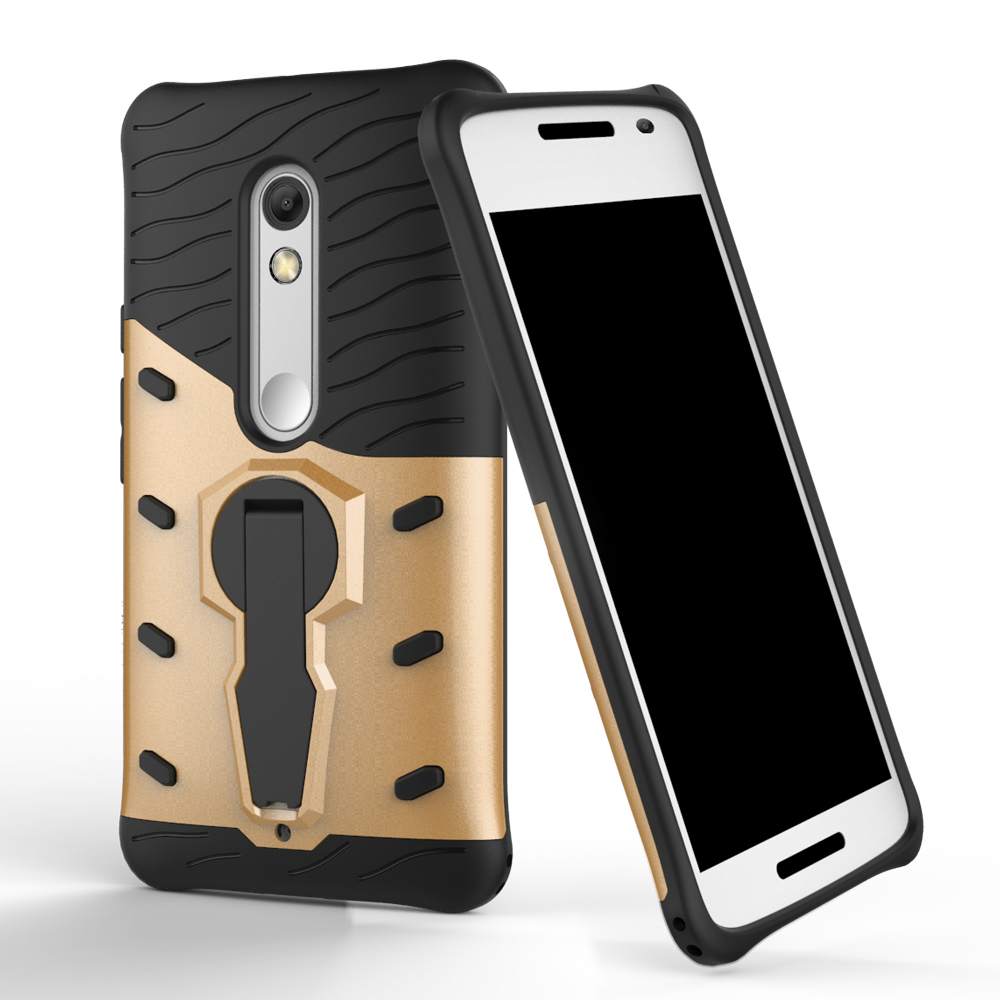 For Motorola Moto X Play X1561 X1562 X1563 360 Full Shock Proof with stand Phone Case Cover For Motorola X Play Back Cover