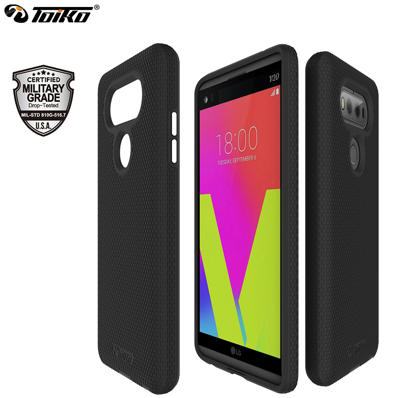 Toiko X Guard Cowl Case For Lg V20 Shockproof Twin Layer Laborious Computer Versatile Tpu Bumper Protecting Shell Rugged Hybrid Armor Black