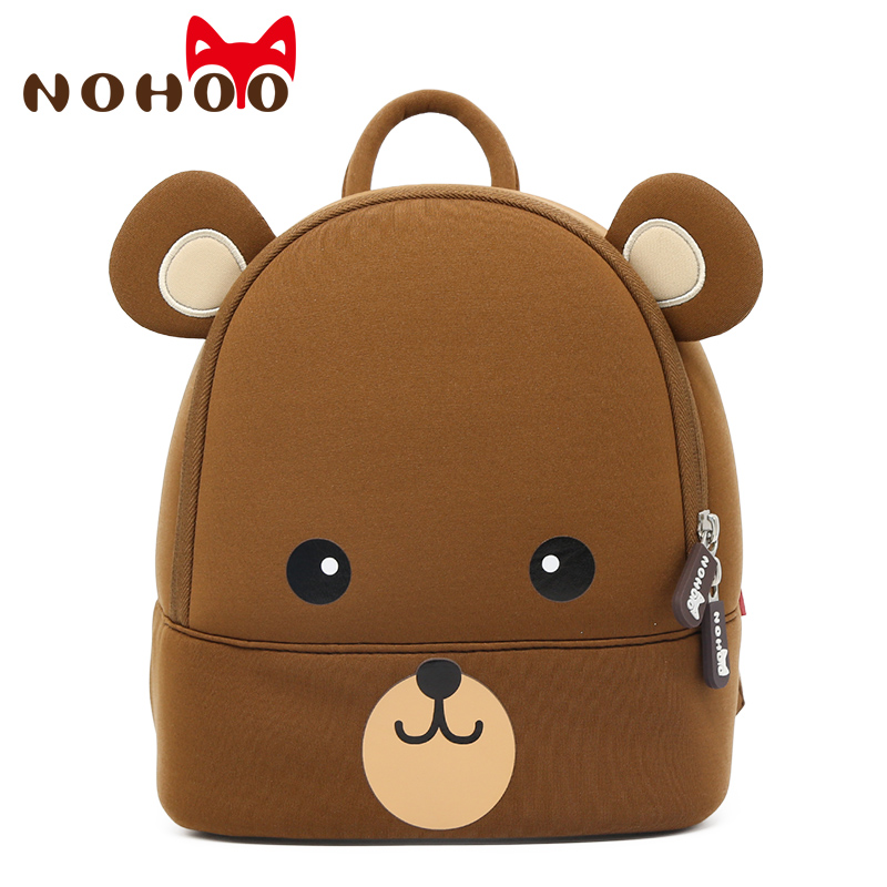 NOHOO 3D Kids Backpacks For Girls Boys Children School Bags Cute Cartoon Bear Toddler Backpack Mochila Infantil