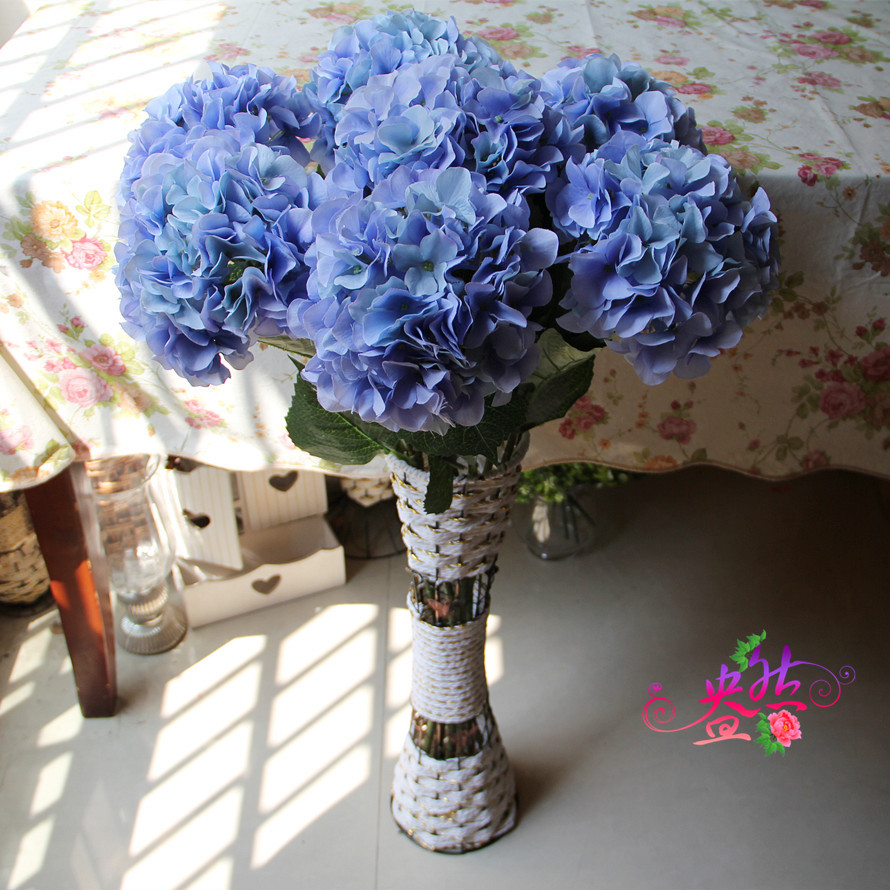 6pcslot simulation large hydrangea court upscale foreign trade 6pcslot simulation large hydrangea court upscale foreign trade wholesale artificial plants artificial silk flowers craft in artificial dried flowers from izmirmasajfo