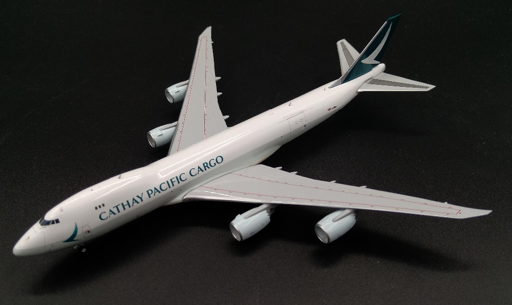 ФОТО Fine JC W 1: 400 Hong Kong Cathay Pacific Boeing 747-8F B-LJN Alloy cargo model Collection model Holiday gifts