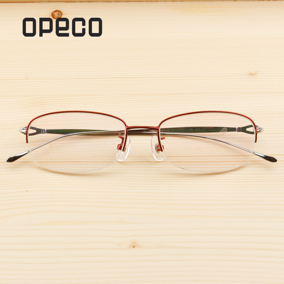 86c3c046db46 Halfrim women's pure titanium eyeglasses progressive multifocal  Photochromic Anti Blue Clear Lens Prescription eyeglasses LB6625