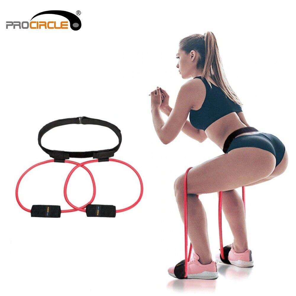 Fitness Frauen Booty Butt Band Widerstand Bands Einstellbare Taille Gürtel Pedal Exerciser für Gesäß Muscle Workout Kostenloser Tasche