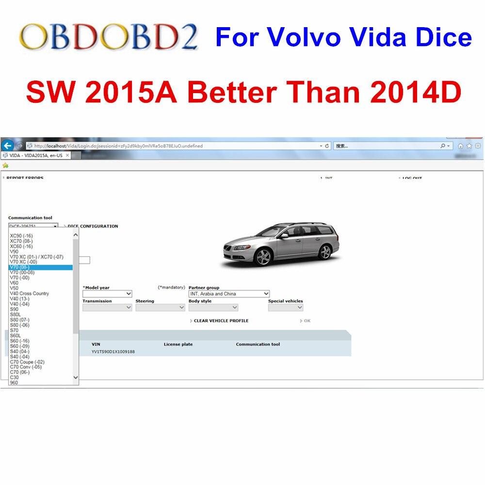 Date 2015A pour Vida Dice puce complète avec CD & Dongle ajouter plus de modèles de voiture que 2014D 2014C Dice Pro outil de Diagnostic livraison gratuite
