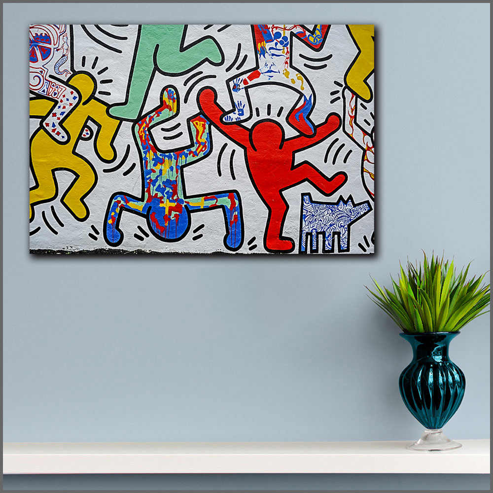 Large size Printing Keith HARING Pop Art Graffiti Wall Art Picture Home Decor Living Room Modern Canvas Print No Frame Paintings