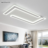 Wooights Modern LED Ceiling Lights Living room Bedroom Abajur Luminarias lustre de plafond 110V 220V Rectangle Ceiling Lamp