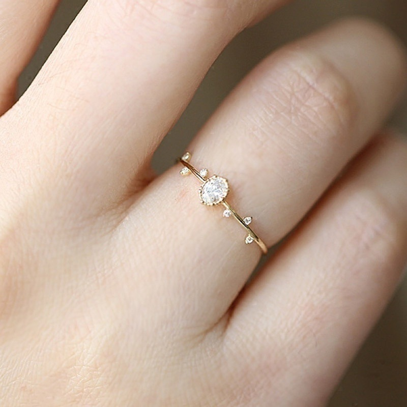 tiny engagement ring
