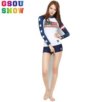 Gsou Snow 2017 Wetsuit Women Long Sleeve Swimsuit Equipent For Diving Scuba Swimming Surfing Spearfishing Triathlon