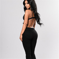 EYES Sexy 2018 Vintage Women Jeans Elegant Pants Full Elasticity Low Waist Jeans Flower
