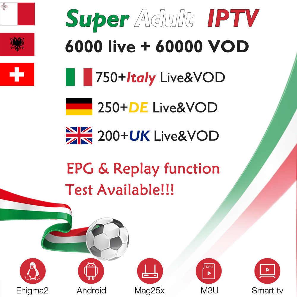 Италия IP ТВ подписки для X96 Мини Android tv box ip ТВ Italia Великобритании Германии и Швейцарии Албании Европе IP ТВ M3U MAG smart tv box