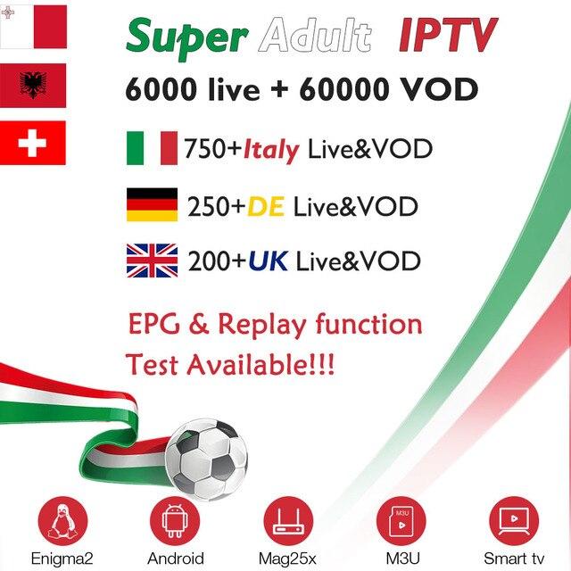 Italy IPTV subscription for X96 mini Android tv box iptv Italia UK Germany Switzerland Albania Europe IPTV M3U MAG smart tv box