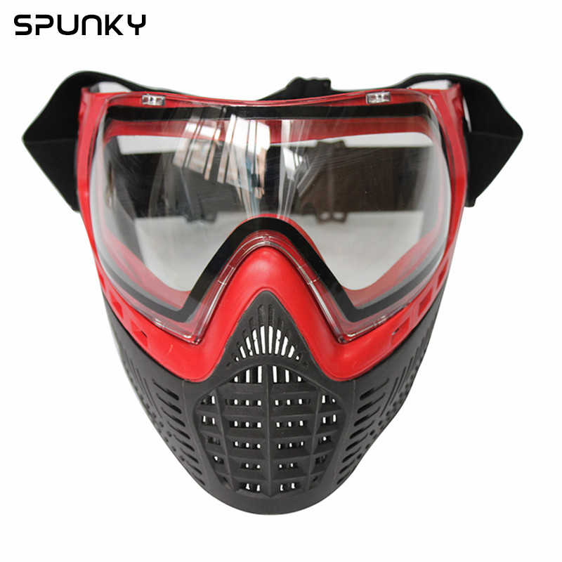 Spunky Paintball Mask made of Soft PE with Thermal Anti Fog Goggle