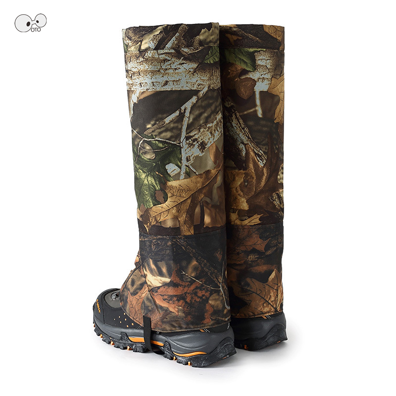 1 Pair L/XL Outdoor Camo Waterproof Leg Warmers Shoe Gaiters Boot Cover Ski Hiking Walking Camping Hunting Snow Legging Gaiters