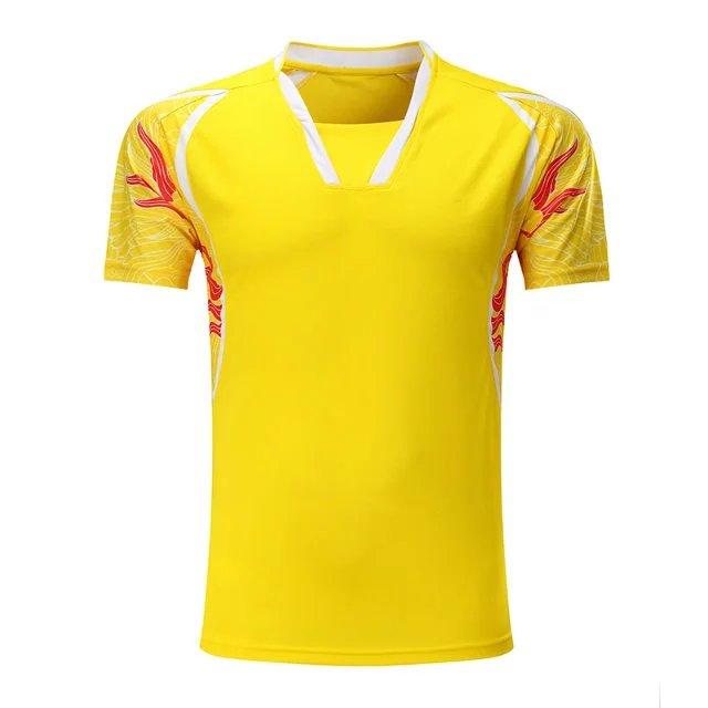 Sportswear Quick Dry Breathable Badminton Shirt,Women/Men Table Tennis Dragon Print Team Game Running Training Sport T Shirts