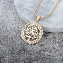 Горячее предложение, хрустальное круглое маленькое ожерелье с подвеской, золотое, серебряное, цвета Bijoux Collier, элегантное женское ювелирное изделие, подарки, Прямая поставка