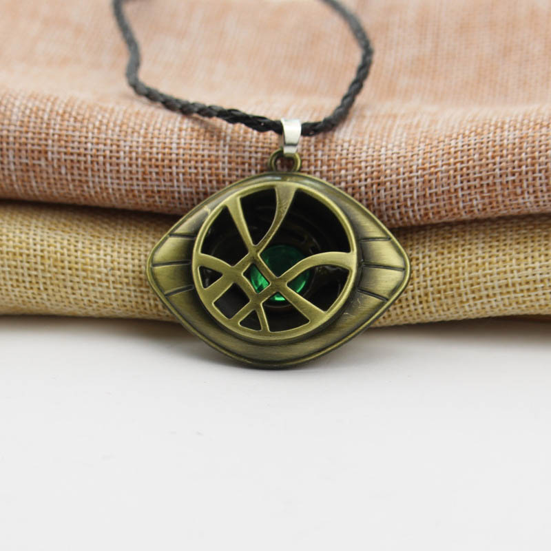 Doctor Strange Avengers Infinity War Necklace Crystal Eye of Agamotto Pendant Fashion Necklaces Jewelry Accessories kids Gift in Action Toy Figures from Toys Hobbies