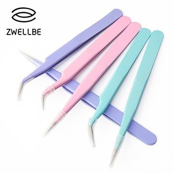Цветные антистатические пинцеты для наращивания ресниц, набор из нержавеющей стали, высокоточные пинцеты для макияжа, инструменты для ремонта 1