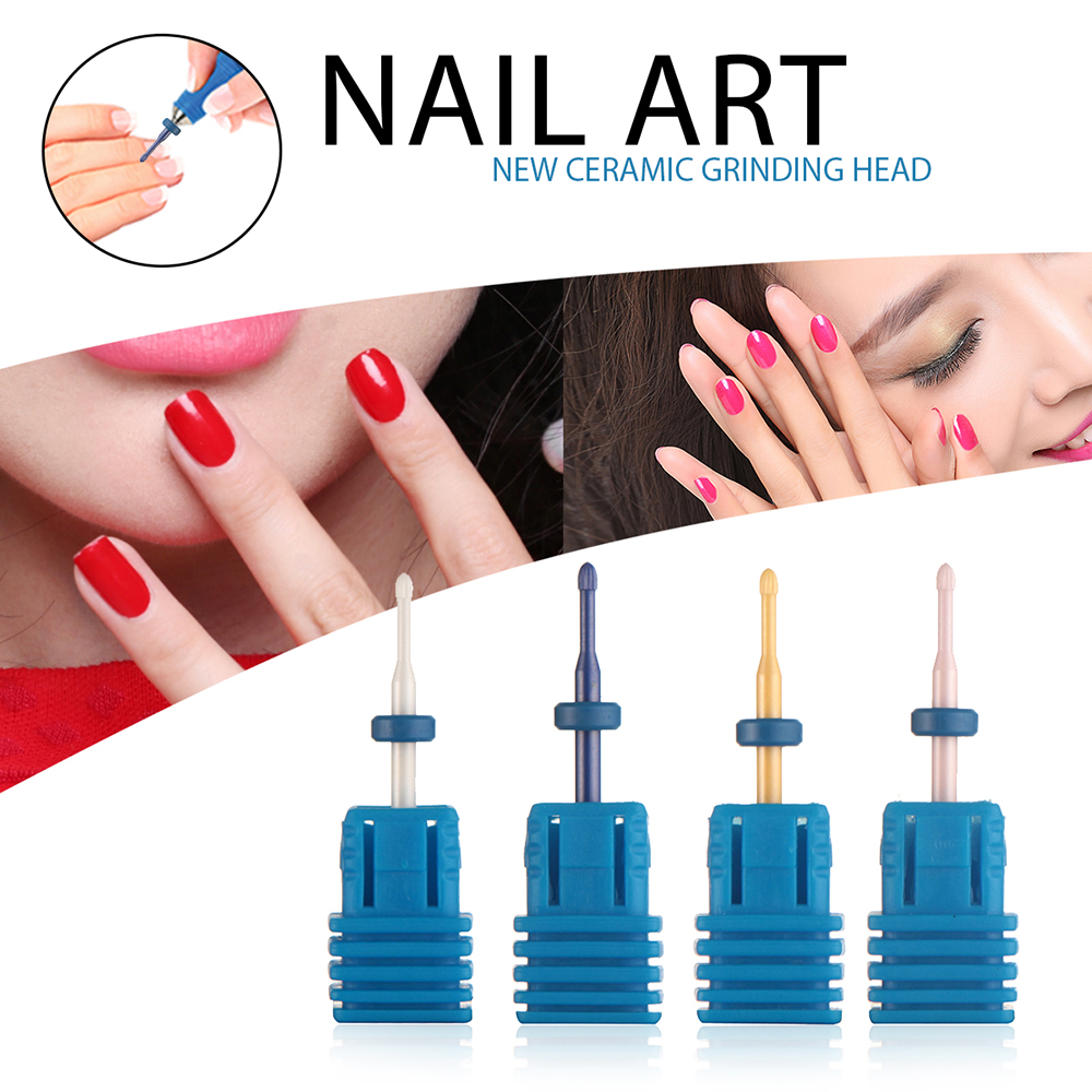 4 Style Nail Art Drill Bit Ceramic Grinding Head for Electric ...