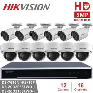 Hikvision Camera-System Video-Surveillance-Kit Fixed-Network 16poe NVR IR 16ch HD