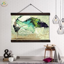 Abstract Dancing Girl Modern Wall Art Print Pop Picture And Poster Frame Hanging Scroll Canvas Painting Home Decor