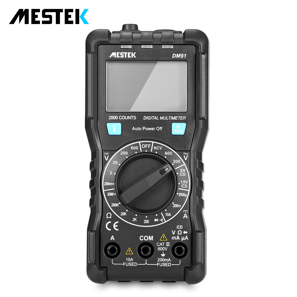 MESTEK DM91 de LCD multímetro Digital Auto de la gama de Multimetre Multi medidor Multitester 1999 cuenta Manual, herramienta
