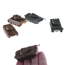1PCS 1:144 Tiger Tanks Toy Plastic 4D Sand Table World War II Germany Panther Tank fashion boy's gift(China)