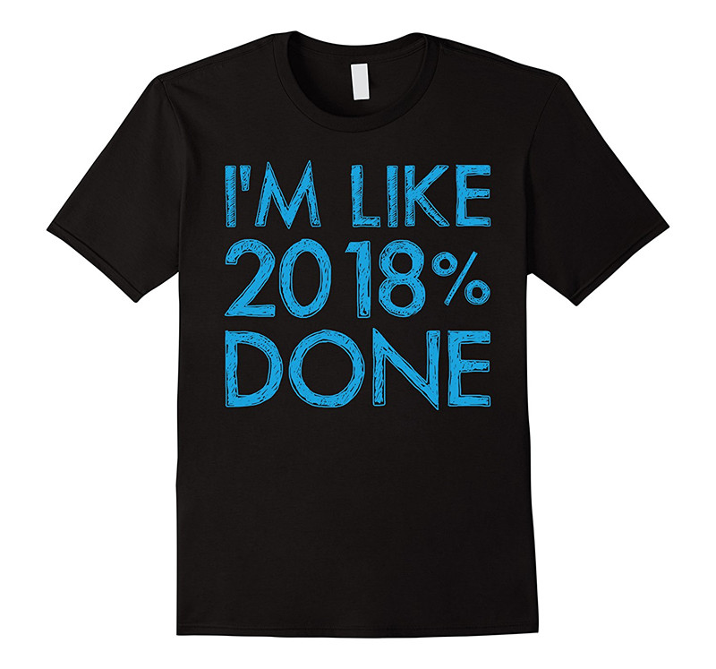 Shop Shirts Crew Neck Men Short-Sleeve Best Friend Im Like 2018% Done, Class Of 2018 Senior Graduation T-shirt Shirts