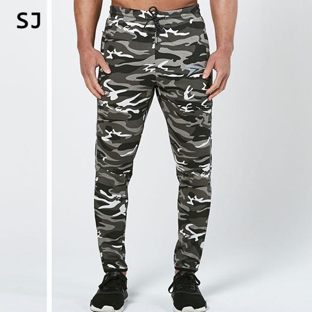 2017 Moda Camuflagem Calças Dos Homens Longo