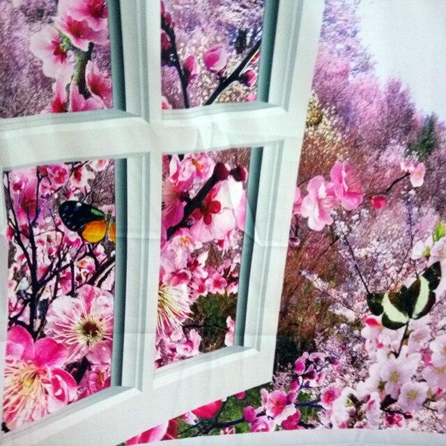 230x180cm Mandala indien tapisserie tenture murale romantique fleurs de cerisier brumeux montagne bohème Yoga tapis maison chambre Art tapis