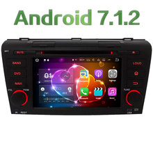 "7"" 2GB RAM Quad Core Android 7.1.2 3G 4G WiFi SWC Car DVD Multimedia Player Radio Stereo For Mazda 3 2004 2005 2006 2007-2009"