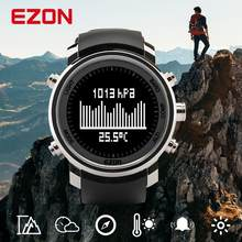Men's Digital Sport Watch Hours Women With Altitude Barometer Compass and stainless case for Outdoor Hiking EZON H506B01(China)