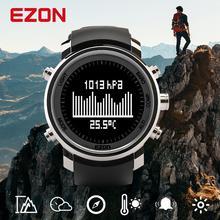 Mens Digital Sport นาฬิกานาฬิกาผู้หญิงความสูงบารอมิเตอร์เข็มทิศและสแตนเลสสำหรับเดินป่ากลางแจ้ง EZON H506B01