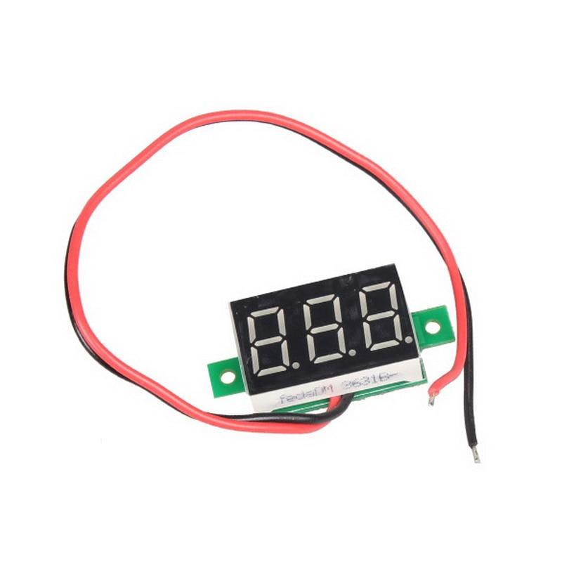 1PC 0.36 Inch Mini LCD Display Voltmeter Ammeter Voltimetro Amperimet Digital DC 2.5-30V Red LED Mini Digital Voltmeter Ammeter