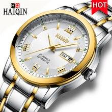 Relogio Masculino Men Watch HAIQIN Top Brand Luxury Automatic Mechanical Watch Men Full Steel Business Waterproof Sport Watches все цены