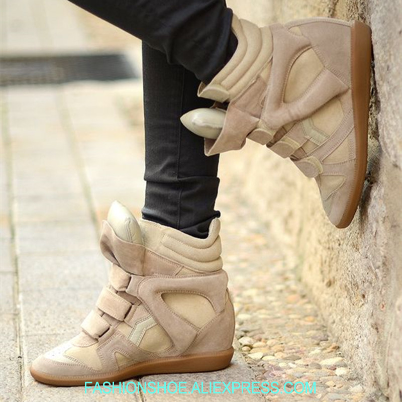 Fashion Patchwork Wedges Women Sneakers Height Increasing Spring Casual Sport Shoes Trainer Beckett Sneakers Mtorcycle Boots patchwork led shoes sneakers