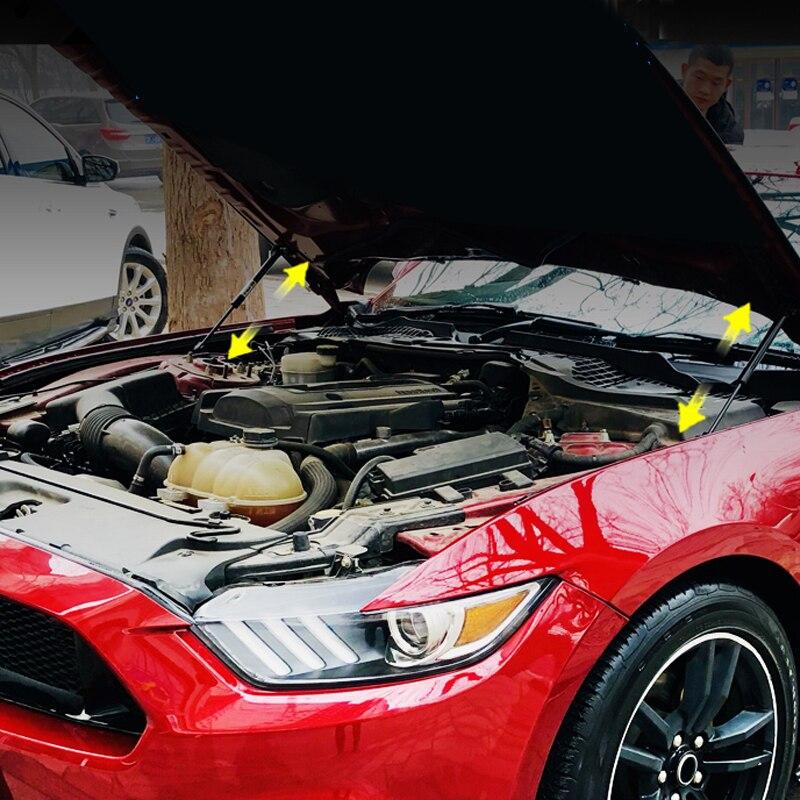 Tout nouveau capot de moteur de voiture amortisseur de jambe de force Support de levage tige hydraulique confiance tige 2 pièces pour Ford Mustang 2015-2019