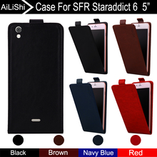 AiLiShi For SFR Staraddict 6 5 Case Up And Down Vertical Phone Flip Leather Accessories 4 Colors Tracking !
