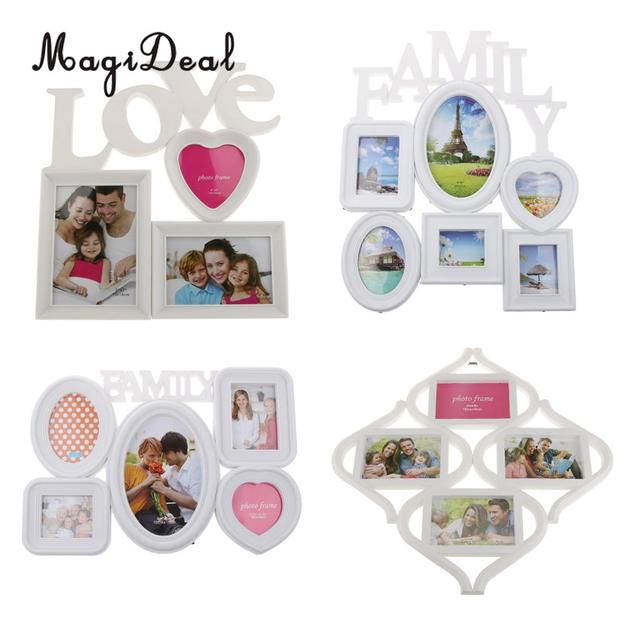 MagiDeal Love Triple Photo Frame Shabby Chic Hanging Picture Frames ...