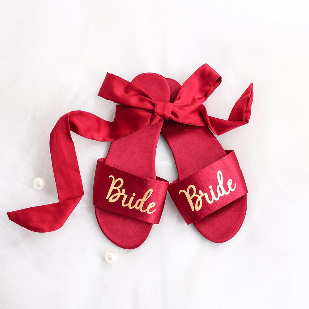 Personalized Wedding Slippers Wedding Team Bride Bridesmaid Slippers Bridal Party Spa Slippers Bachelorette Party Favors Gifts
