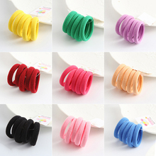 10Pcs lot 2.5cm Small Cotton Scrunchy High Elastic Hair Bands Simple  Classic Girls Ponytail 2a6cd55f66ae