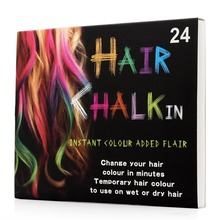 24 Colors Brief paragraph Hair Chalk Fashion Color Hair Chalk Dye Pastels Temporary Pastel Hair Extension Dye Chalk Hot Crayon