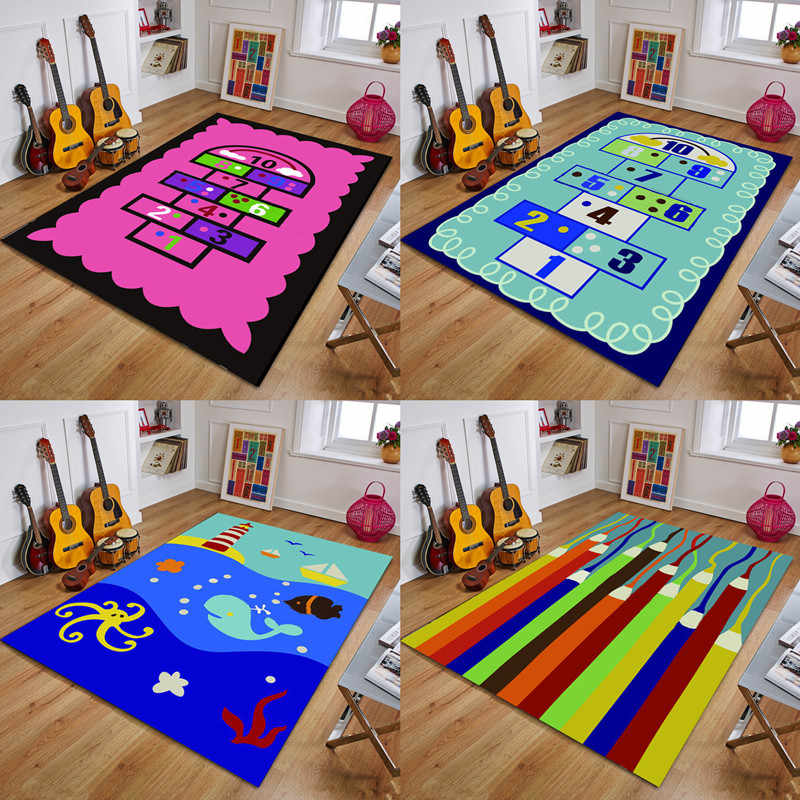 Rugs Kids Room Crawl Floor Mat Boy