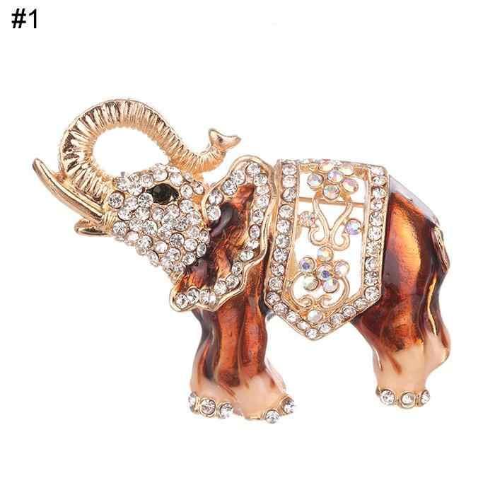 Wanita Fashion Rhinestone Inlay Gajah Hollow Keluar Inlay, Pin Gesper Bros