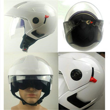Helmet motorcycle open face capacete para motocicleta cascos para moto racing  motorcycle vintage helmets with dual lens white